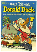 """Golden Age (1938-1955):Cartoon Character, Four Color #367 Donald Duck in """"A Christmas for Shacktown"""" (Dell,1952) Condition: FN...."""