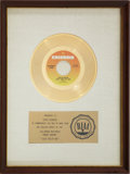 "Music Memorabilia:Awards, Chicago ""Just You 'N' Me"" RIAA Gold Record Award (1973). ..."