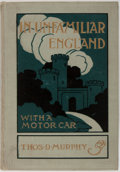 Books:Travels & Voyages, Thomas D. Murphy. In Unfamiliar England with a Motor Car. Page Company, 1920. Publisher's cloth binding. Full color ...