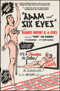 """Movie Posters:Sexploitation, Adam and Six Eves (Emerson Film, 1962). Trimmed One Sheet (26.5"""" X40.5"""") Silk Screen Style. Sexploitation.. ..."""