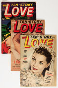 Golden Age (1938-1955):Romance, Ten Story Love Group (Ace, 1951-56) Condition: Average VG....(Total: 23 Comic Books)