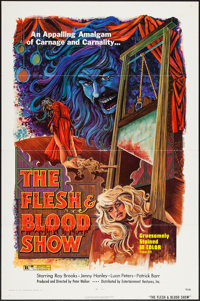 """The Flesh and Blood Show (EVI, 1973). One Sheet (27"""" X 41""""). Horror"""