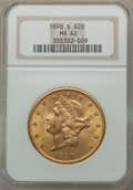 Liberty Double Eagles: , 1898-S $20 MS62 NGC. NGC Census: (8413/4850). PCGS Population(6402/4455). Mintage: 2,575,175. Numismedia Wsl. Price for pr...