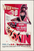 "Movie Posters:Sexploitation, Hot Skin (Jaguar Releasing, 1977). One Sheet (28.5"" X 42"") 3-DStyle. Sexploitation.. ..."