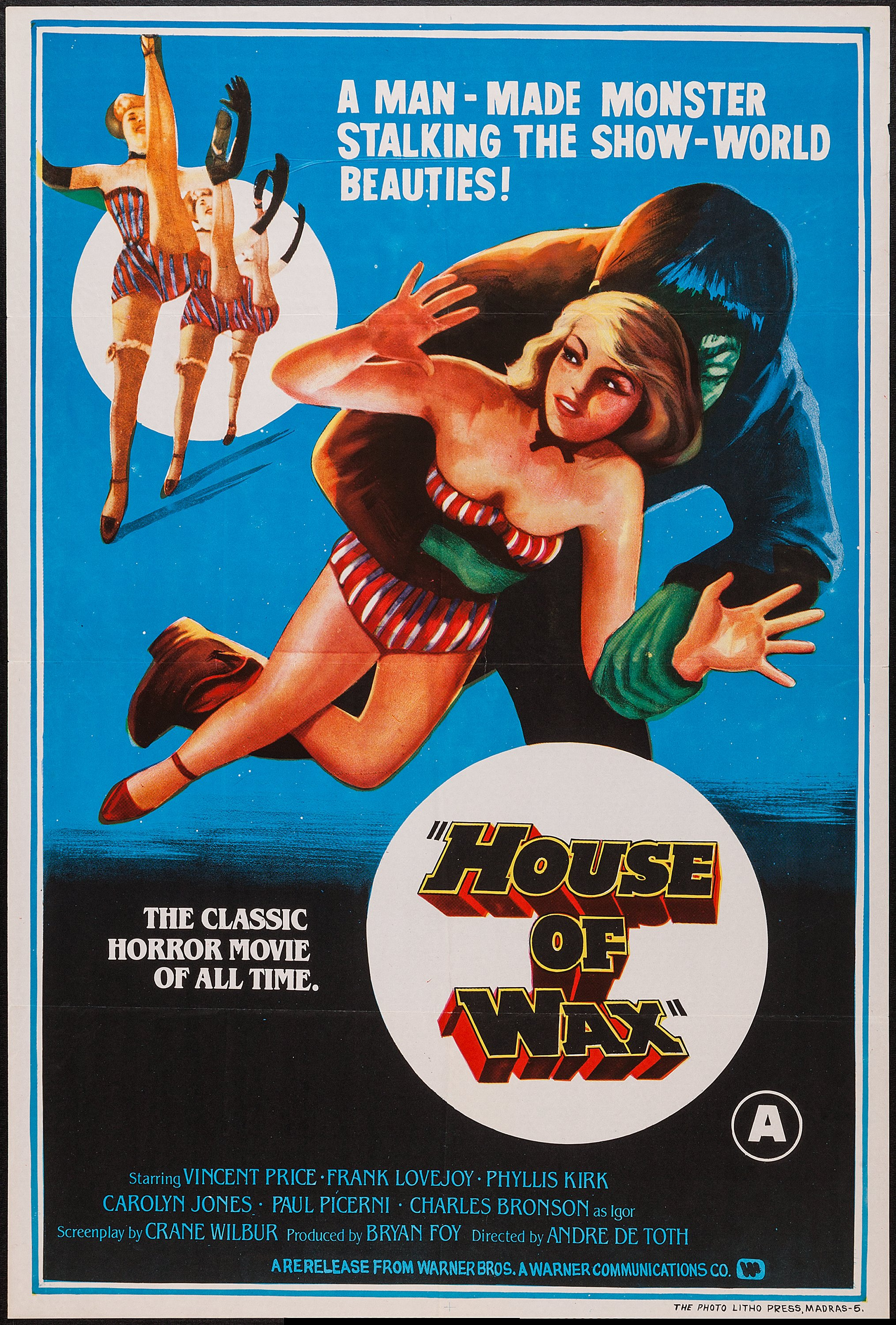House Of Wax Warner Communications R 1970s Indian One Sheet Lot 52236 Heritage Auctions