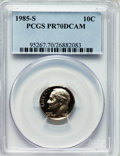 Proof Roosevelt Dimes: , 1985-S 10C PR70 Deep Cameo PCGS. PCGS Population (177). NGC Census:(80). Numismedia Wsl. Price for problem free NGC/PCGS ...