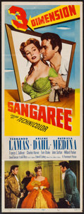 "Movie Posters:Adventure, Sangaree (Paramount, 1953). Insert (14"" X 36""). 3-D Style.Adventure.. ..."