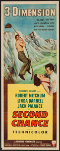 "Movie Posters:Thriller, Second Chance (RKO, 1953). Insert (14"" X 36"") 3-D Style. Thriller.. ..."