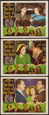 "The Best Years of Our Lives (RKO, 1946). Lobby Cards (3) (11"" X 14""). Drama. ... (Total: 3 Items)"