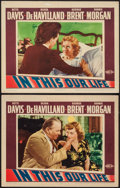 "Movie Posters:Drama, In This Our Life (Warner Brothers, 1942). Lobby Cards (2) (11"" X 14""). Drama.. ... (Total: 2 Items)"