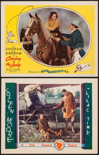 """Lilac Time & Other Lot (First National, 1928). Lobby Cards (2) (11"""" X 14""""). War. ... (Total: 2 Items)"""