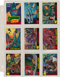 Memorabilia:Trading Cards, Dinosaurs Attack! Trading Cards and Stickers Set (Topps,1988)....