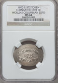 Expositions and Fairs, 1893 World's Columbian Exposition, Elongated 1893 Nickel MS64 NGC.Eglit-372....