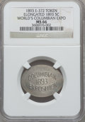Expositions and Fairs, 1893 World's Columbian Exposition, Elongated 1893 Nickel MS66 NGC. Eglit-372....
