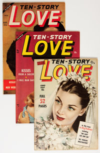 Ten Story Love Group (Ace, 1951-53) Condition: Average VF.... (Total: 13 Comic Books)