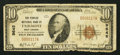 National Bank Notes:West Virginia, Fairmont, WV - $10 1929 Ty. 1 The Peoples NB Ch. # 9645. ...