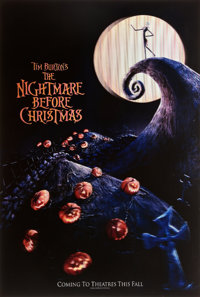 "The Nightmare Before Christmas (Touchstone, 1993). Lenticular One Sheet (27"" X 40"") Advance 3-D Style"