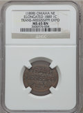 Expositions and Fairs, 1898 Trans-Mississippi Exposition, Elongated 1889 Cent MS65 BrownNGC. Omaha, NE....