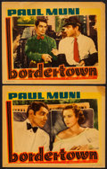 """Movie Posters:Crime, Bordertown (Warner Brothers, R-1938). Lobby Cards (2) (11"""" X 14"""").Crime.. ... (Total: 2 Items)"""