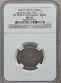 Expositions and Fairs, 1893 World's Columbian Exposition, Elongated 1892 Dime MS64 NGC.Eglit-373A....