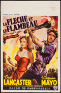 "Movie Posters:Adventure, The Flame and the Arrow (Warner Brothers, 1950). Belgian (14"" X21.5""). Adventure.. ..."