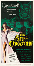 """Movie Posters:Science Fiction, The She-Creature (American International, 1956). Three Sheet (41"""" X 80"""").. ..."""