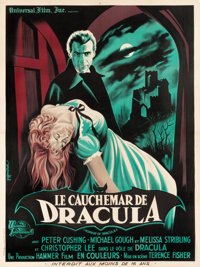 "Horror of Dracula (Universal International, 1958). French Grande (47"" X 63"") Guy Gerard Noel Art"