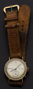 Timepieces:Wristwatch, Movado 18k Gold Triple Calendar Vintage Wristwatch. ...