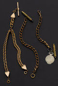 Timepieces:Watch Chains & Fobs, Three Watch Chains & Fobs. ... (Total: 3 Items)