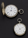 Timepieces:Pocket (post 1900), Rare A. Houriet High Jeweled Lever & A Swiss Chinese Duplex Pocket Watches. ... (Total: 2 Items)