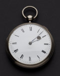 Timepieces:Pocket (pre 1900) , Romilly Paris Verge Fusee Pocket Watch. ...
