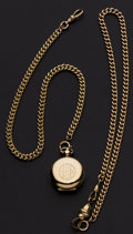 Timepieces:Watch Chains & Fobs, Two Gold Filled Watch Chains & One 14k Gold Coin Holder Locket. ... (Total: 2 Items)