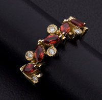 Synthetic Sapphire, Diamond, Gold Ring