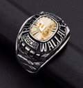 Estate Jewelry:Rings, Heroes of NASCAR, Silver, Gold Ring. ...