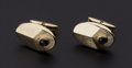 Estate Jewelry:Cufflinks, Black Star Sapphire, Gold Cufflinks. ...