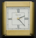 Timepieces:Clocks, Tiffany & Co. Brass Alarm Clock. ...