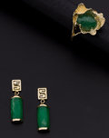 Estate Jewelry:Suites, Jadeite Jade, Gold Jewelry. ... (Total: 2 Items)