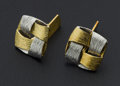 Estate Jewelry:Cufflinks, Two-Toned Gold Cufflinks. ...