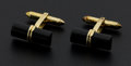 Estate Jewelry:Cufflinks, Black Onyx, Gold Cufflinks. ...