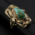 Estate Jewelry:Rings, Turquoise, Gold Ring. ...