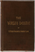 Books:Literature Pre-1900, H. Rider Haggard and Andrew Lang. The World's Desire. Longman's Green and Co., 1890. Contemporary binding with bevel...