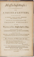 Books:Americana & American History, [American Independence]. Daniel Leonard. Massachusettensis: Or ASeries Of Letters, Containing a Faithful State of Many ...
