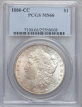 Morgan Dollars, 1880-CC $1 MS66 PCGS....
