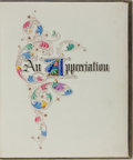 Books:Illuminated Manuscripts, [Hand Illuminated]. An Appreciation. Privately printed, 1942. A decorative book commemorating the gift of an organ...