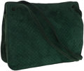 Luxury Accessories:Bags, Bottega Veneta Quilted Green Suede Shoulder Bag . ...