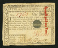 Colonial Notes:Massachusetts, Massachusetts May 5, 1780 $1 Very Fine.. ...