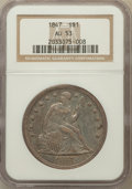 Seated Dollars: , 1847 $1 AU53 NGC. NGC Census: (31/240). PCGS Population (46/186).Mintage: 140,750. Numismedia Wsl. Price for problem free ...