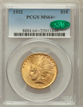 Indian Eagles, 1932 $10 MS64+ PCGS. CAC. PCGS Population (8937/1250). NGC Census:(11080/2556). Mintage: 4,463,000. Numismedia Wsl. Price ...