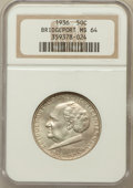 Commemorative Silver: , 1936 50C Bridgeport MS64 NGC. NGC Census: (1082/1610). PCGSPopulation (1828/2381). Mintage: 25,015. Numismedia Wsl. Price ...