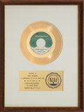 "Music Memorabilia:Awards, Jeannie C. Riley ""Harper Valley P.T.A."" RIAA Gold Record Award(1968). ..."